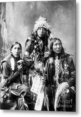 Young Sioux Men, 1899 Metal Print by Granger