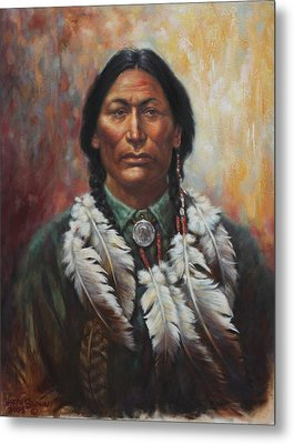 Young Sittingbull Metal Print by Harvie Brown