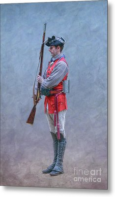 Metal Print featuring the digital art Young Soldier With Rifle by Randy Steele