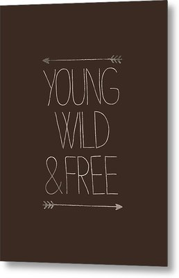 Young Wild And Free Hipster Metal Print by Illustratorial Pulse