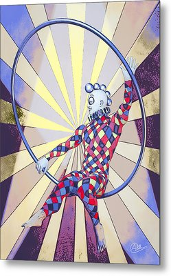 Younger Tightrope  Metal Print by Quim Abella