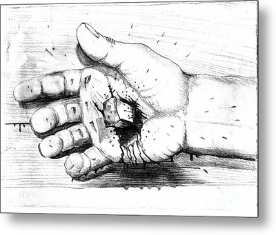 Your Life Is In His Hands Metal Print by Randall Easterling