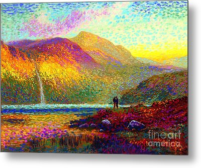Your Love Colors My World, Modern Impressionism, Romantic Art Metal Print by Jane Small