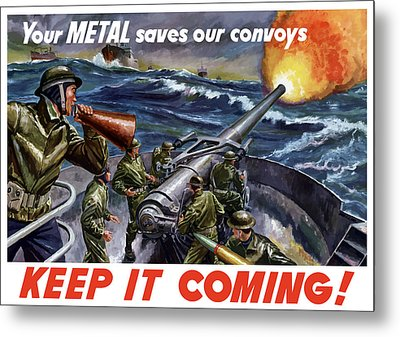 Your Metal Saves Our Convoys Metal Print