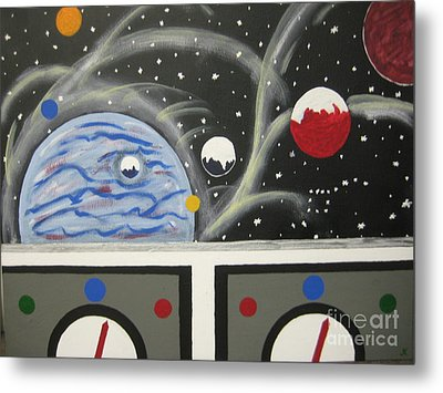 Metal Print featuring the painting Your The Pilot  by Jeffrey Koss