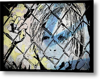 Youth Behind The Fence Metal Print by Nicole Frischlich