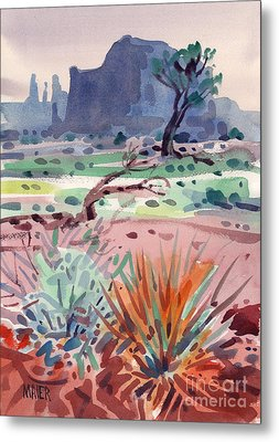 Yucca And Buttes Metal Print by Donald Maier