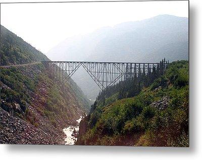 Metal Print featuring the photograph Yukon Railroad Bridge by Jack G  Brauer