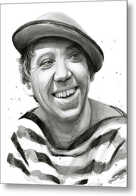 Yuriy Nikulin Portrait Metal Print by Olga Shvartsur