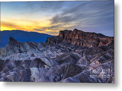 Zabriskie Point Sunset Metal Print
