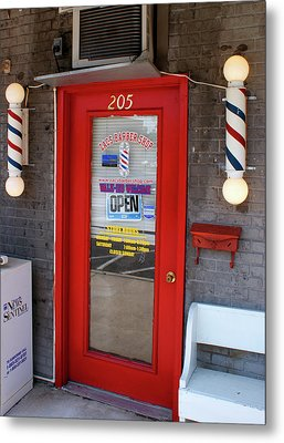 Zacs Barber Shop Metal Print