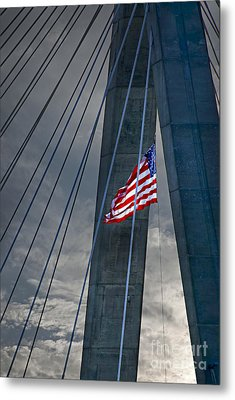 Zakim Bridge Boston Metal Print by Elena Elisseeva