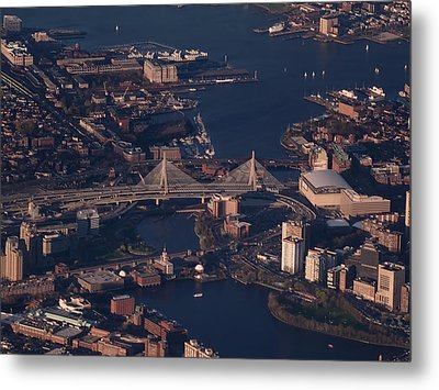 Metal Print featuring the photograph Zakim Bridge In Context by Rona Black