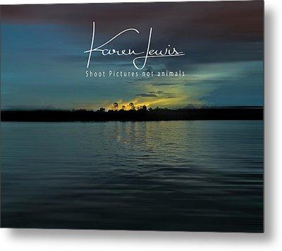 Metal Print featuring the photograph Zambezi Sunset by Karen Lewis