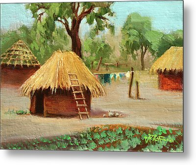 Metal Print featuring the painting Zambia 1 by Dave Platford