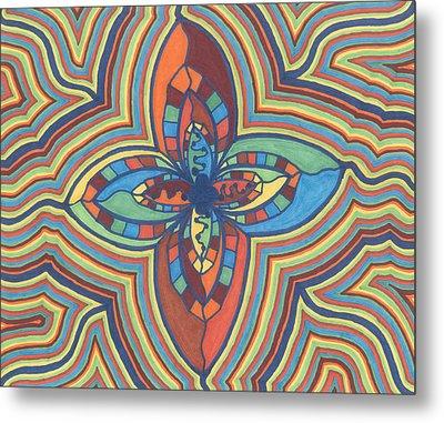 Zany Flower Metal Print
