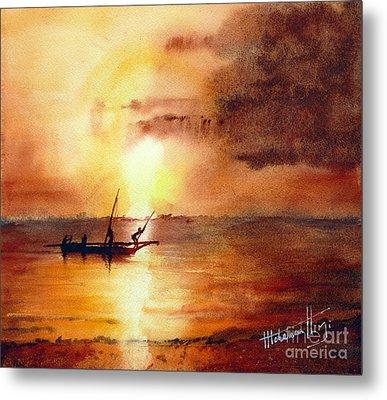 Zanzibar Sunrise Metal Print by Mohamed Hirji