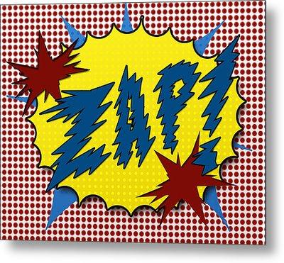 Zap Pop Art Metal Print by Suzanne Barber