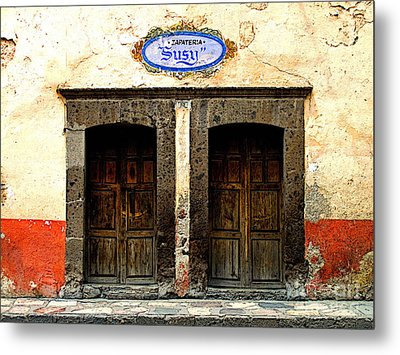 Zapateria Susy Metal Print by Mexicolors Art Photography