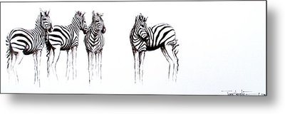 Zebbies Metal Print