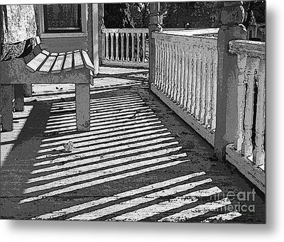 Metal Print featuring the photograph Zebra Porch by Betsy Zimmerli