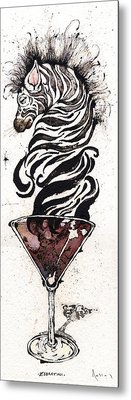 Zebratini Metal Print by Mark M  Mellon