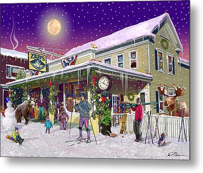 Zebs General Store In North Conway New Hampshire Metal Print by Nancy Griswold