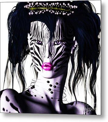 Zeeebra Metal Print