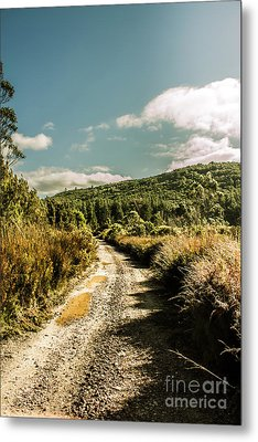 Zeehan Dirt Road Landscape Metal Print