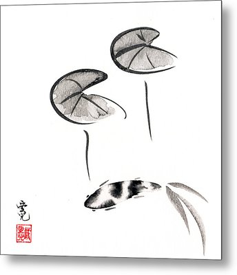 Zen Fish Painting Metal Print