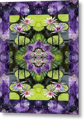 Zen Lilies Metal Print