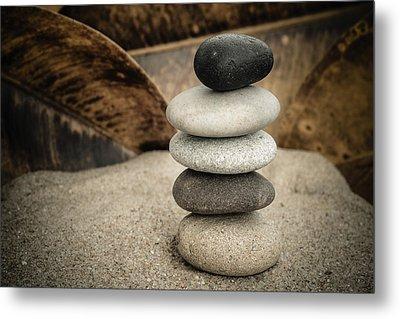 Zen Stones IIi Metal Print