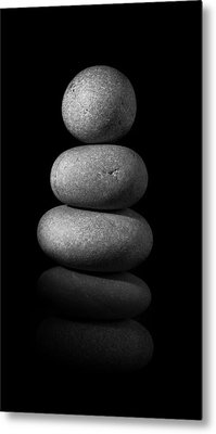 Zen Stones In The Dark II Metal Print by Marco Oliveira