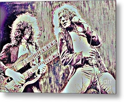 Zeppelin Concert On Wood  Metal Print