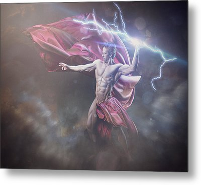 Zeus Conservative Version Metal Print by Marcin and Dawid Witukiewicz