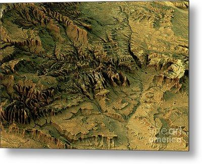 Zion National Park 3d Landscape View West-east Natural Color Metal Print by Frank Ramspott
