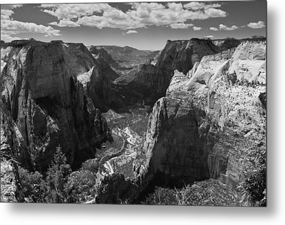 Zion Valley From Observation Point Metal Print by Steven Wilson