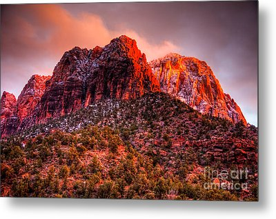Zion's Fire V Metal Print by Irene Abdou
