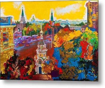 Znamenka Street. Moscow Metal Print by Khadzhi-Murad Alikhanov