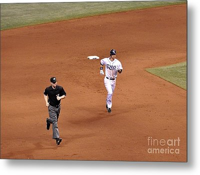 Zobrist On The Run Metal Print by John Black