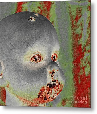 Zombie Baby Two Metal Print
