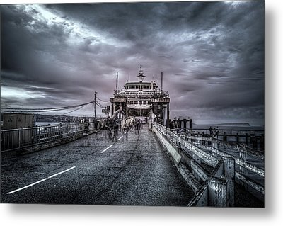 Zombie Ferry Ride Metal Print by Spencer McDonald