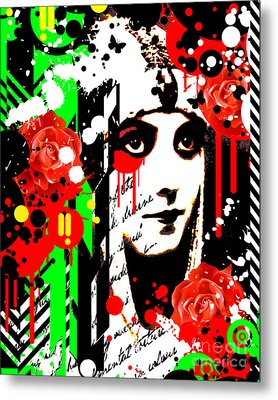 Zombie Queen Roses Metal Print by Chris Andruskiewicz