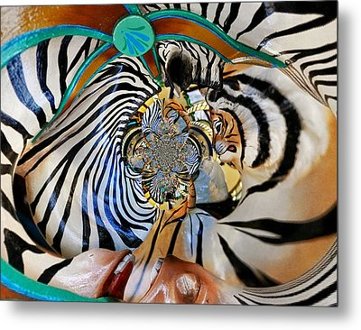 Zoo Animal Abstract Metal Print by Marty Koch