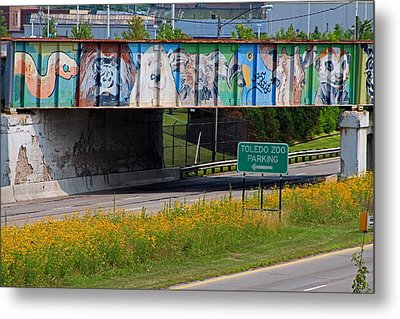 Metal Print featuring the photograph Zoo Mural by Michiale Schneider