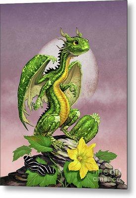 Zucchini Dragon Metal Print by Stanley Morrison