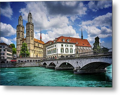 Metal Print featuring the photograph Zurich Old Town  by Carol Japp