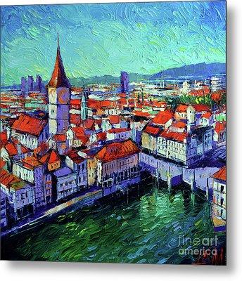 Zurich View Metal Print
