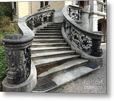 Metal Print featuring the painting Zurich - Villa Patumbah by Art Ina Pavelescu