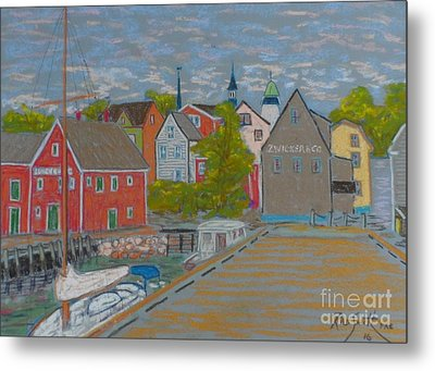 Zwickers Wharf Lunenburg Metal Print by Rae  Smith